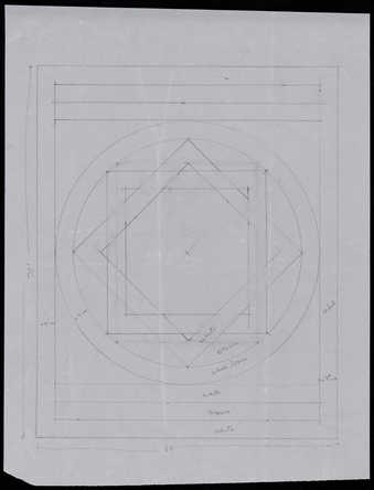 [schematic drawing of an eight-pointed star in circle]