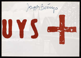"Printed on reverse UL corner: ""originalgrafik • serie 1: köln / nr. 15   joseph beuys / köln..."
