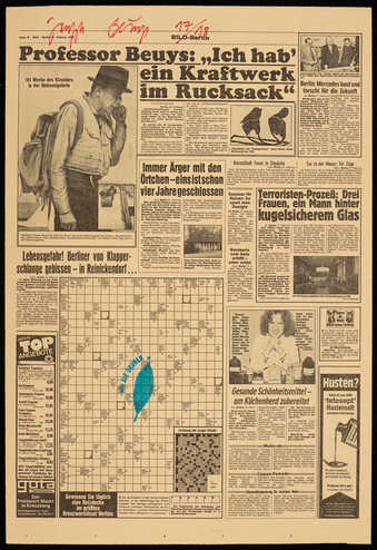 stamped page from Bild-Berlin, Feb. 21, 1980