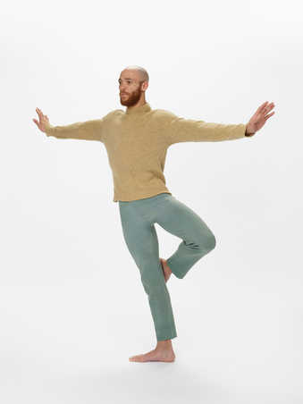 COSTUMES: Men's heather wool sweaters in earth tone browns, grays, greens, yellows....
