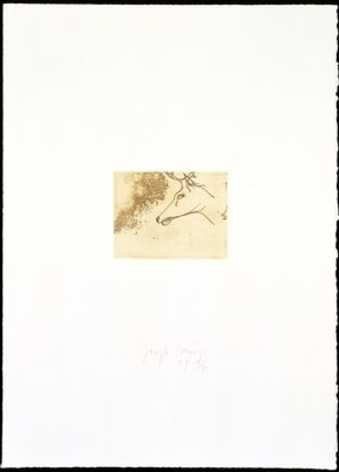 From Suite Trnen, a suite of 12 etchings; we have only one etching from the suite.