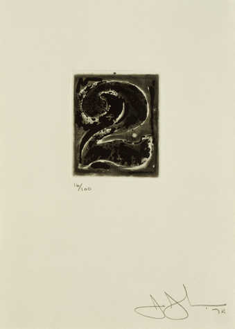 An image of the figure 2 printed in black.  An intaglio print from one copper plate.
