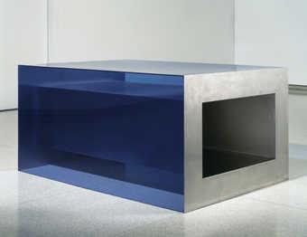 blue plexiglass
