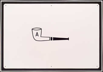 image of pipe at center with &quot;A&quot; painted on bowl