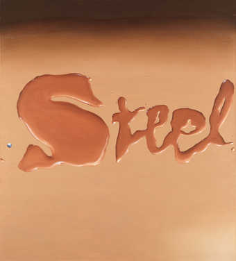 "word ""Steel"" on canvas"