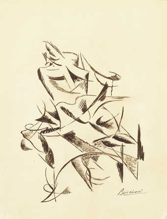 Abstract male figure in motion