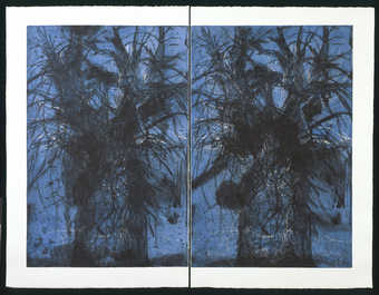 "Left panel:  .1  41 x 26-1/2""Right panel:  .2  41 x 26-3/4""diptych"