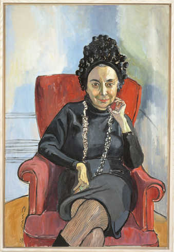 an seated portrait of art critic Charlotte Willard