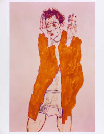 Images of Schiele works that the artist photographed from books