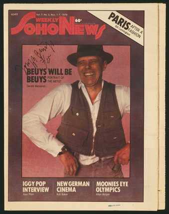 issue of The Soho Weekly News, Vol. 7, No. 5, Nov. 1-7, 1979; Beuys is featured on the cover,...