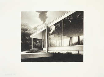 A image of a modernist building.