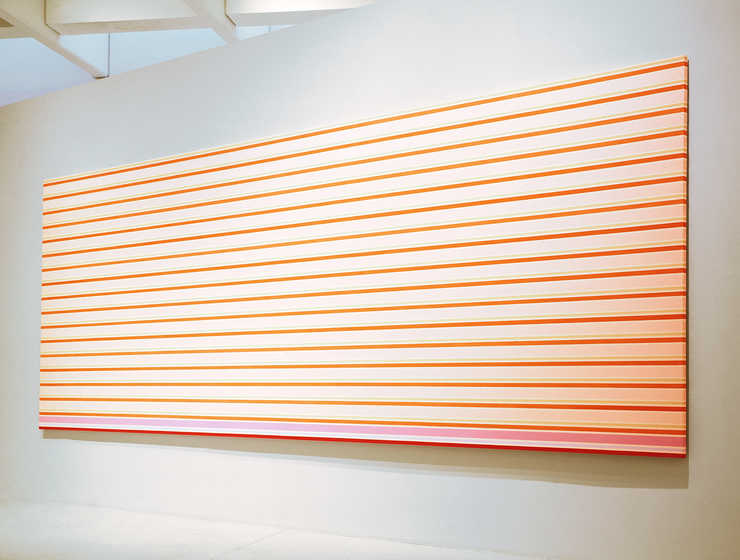 long horizontal lines on canvas