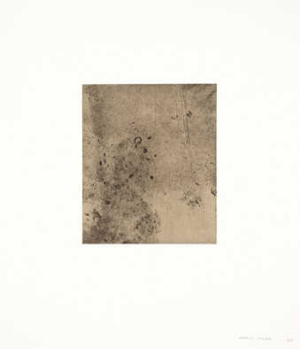 A series fo soft-ground etchings made from dryer lint.