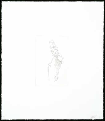 A line drawn image of a Mr. Peanut like figure.