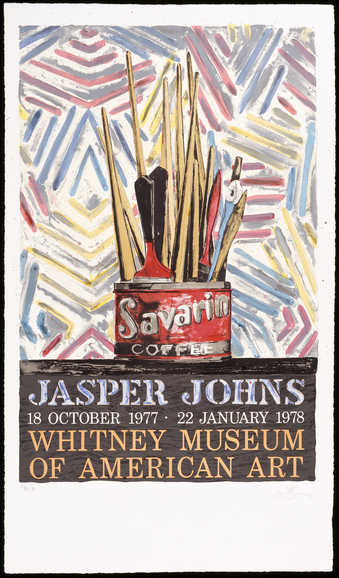 A print produced on the occcassion of Johns exhibition at the Whitney.