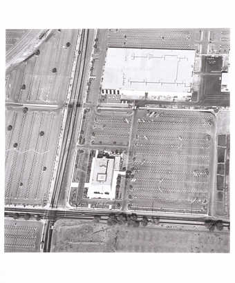 aerial views of parking lots