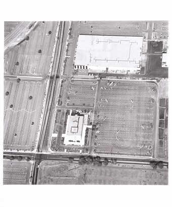 aerial views of parking lots