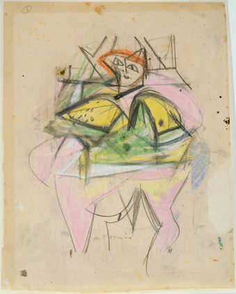 Abstract female figure