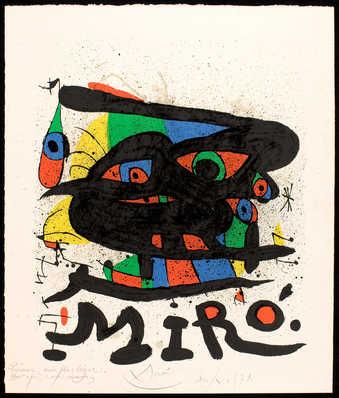 Miro figures in primary colors