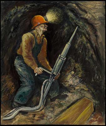 miner working in a mine