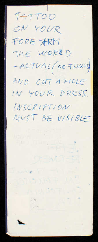 Blue ink on white paper with blue trim; on reverse, addressed to Jeff Berner with rubber-stamped...