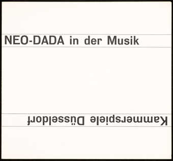 Black print on white cardstock; a program for a musical performance at Kammerspiele, Düsseldorf,...