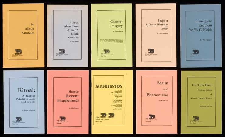Series of 10 pamphlets; black print on heavy stock paper of different colors; staplebound:.1 - ...